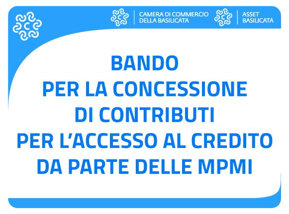Bando per la concessione di contributi per l'accesso al credito da parte delle MPMI
